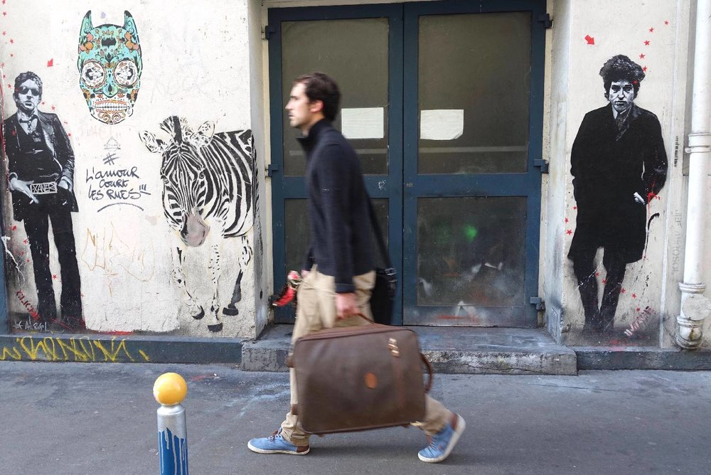 Jef Aerosol |street art |Serge Gainsbourg |Bob Dylan |Paris 17e |©sandrine cohen
