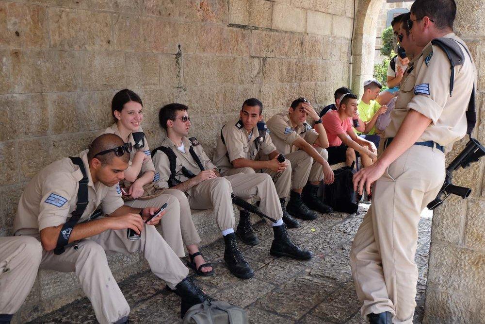 Jerusalem old city | Israeli army | photo sandrine cohen