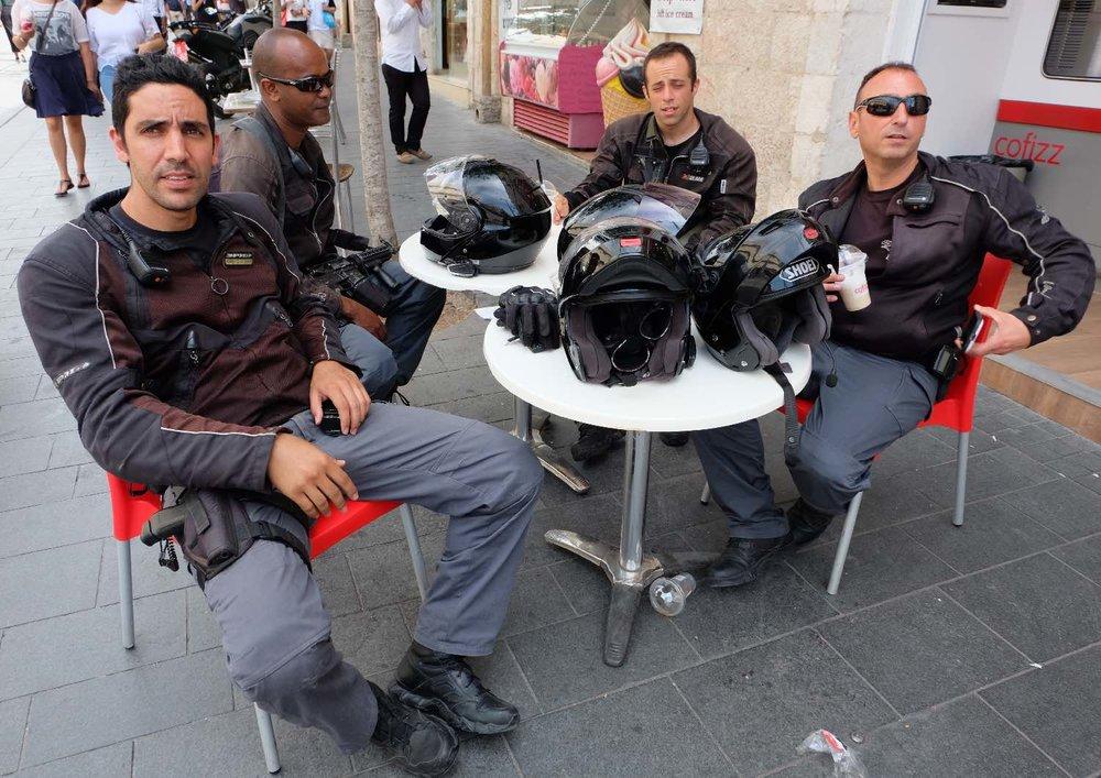 Jerusalem | Policemen at Jaffa street | photo sandrine cohen