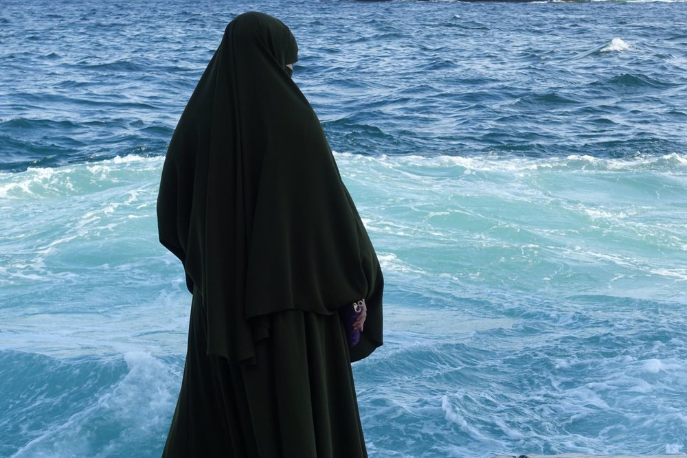 Istanbul | Turkey | Bosphorus | Muslim woman on the Bosphorus |  photo sandrine cohen