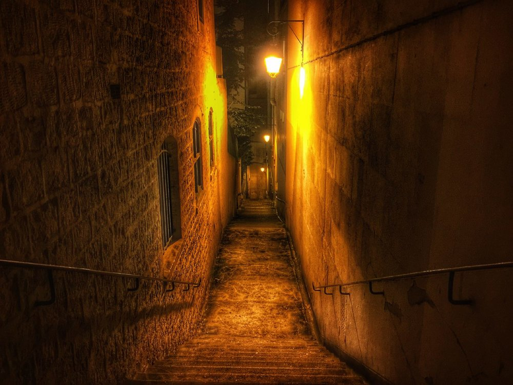 Paris by night | rue des eaux | street with stairs | ©sandrine cohen