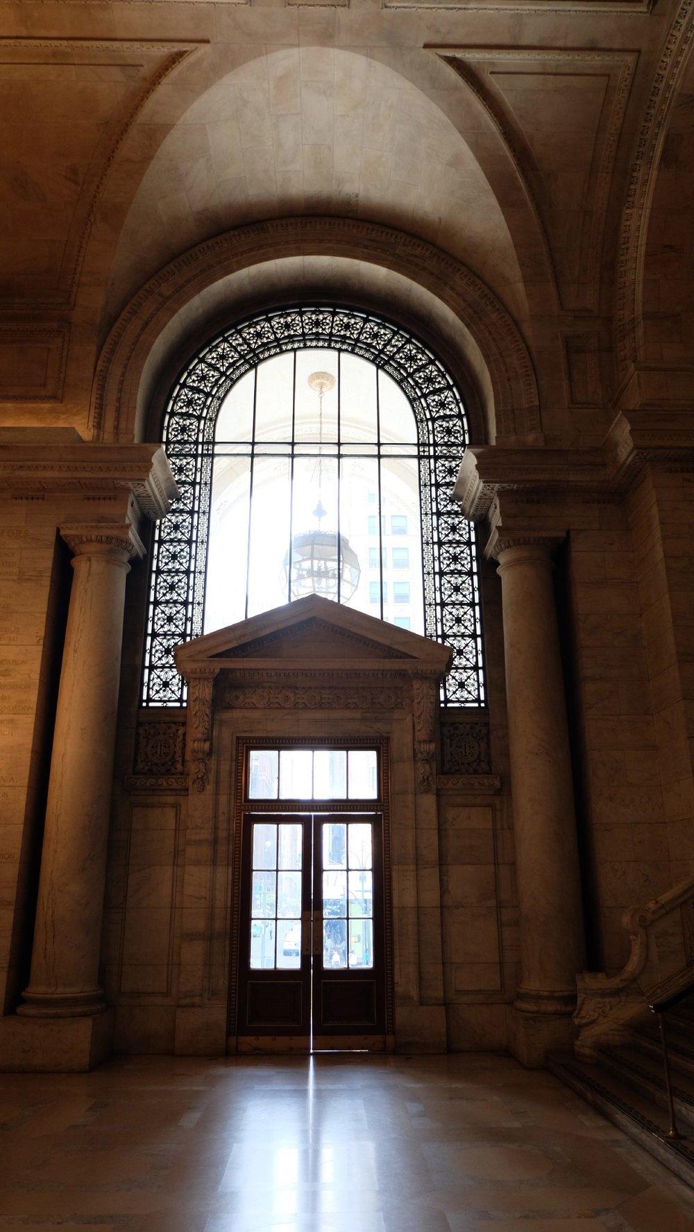The New York Public Library | Entrance | 19 th century architecture | photo sandrine cohen