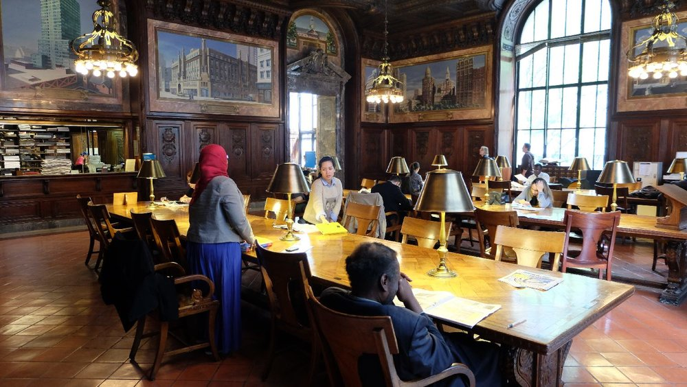 The New York Public Library | Room for studens | 19 th century architecture | photo sandrine cohen