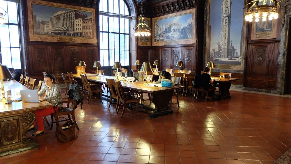 The New York Public Library | Doors | Reading room with studens | 19 th century architecture | photo sandrine cohen