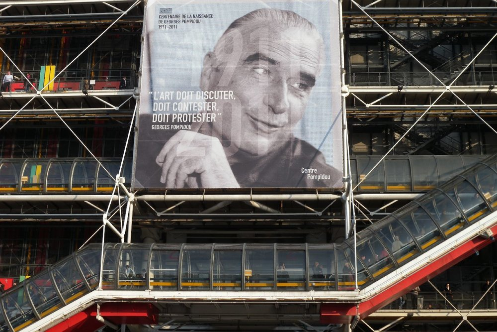 Centre Pompidou | Georges Pompidou President of the Republic from 1969 to 1974 | Museum of modern art | Library | Paris | ©Sandrine cohen