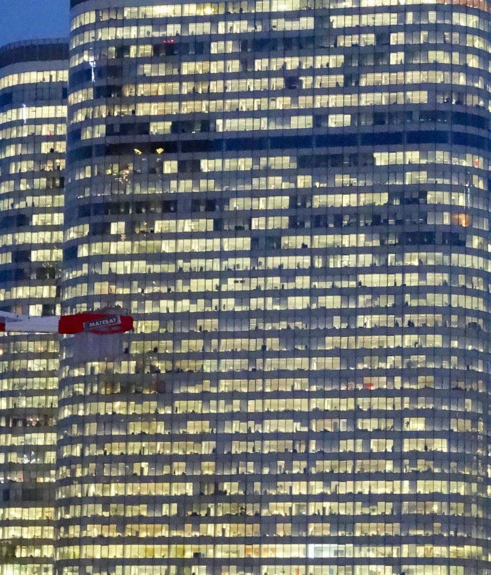 La Défense Paris | Tour Coeur de Défense | Tour de la Défense le soir | photo sandrine cohen