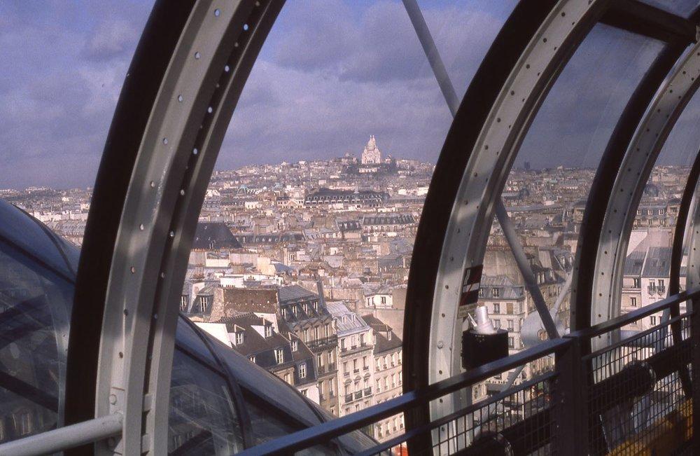 Vue de Montmartre depuis le Centre Pompidou | photo sandrine cohen