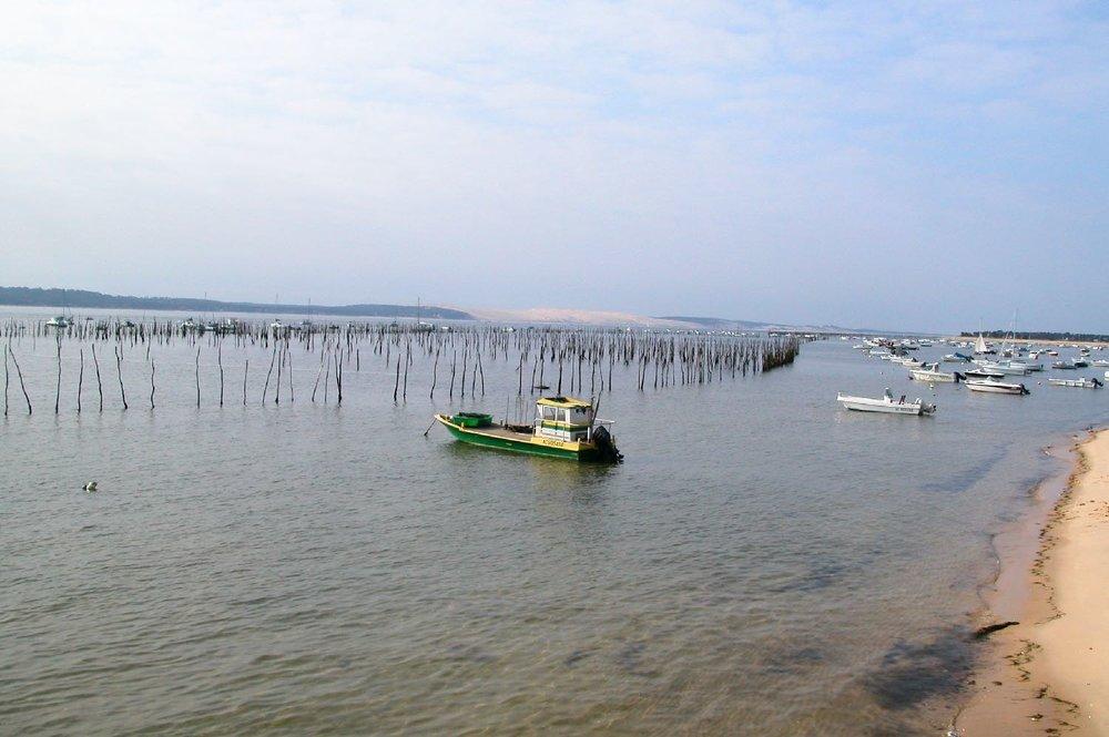 Bassin d'Arcachon | Oyster boat | Cap Lege | bassin à huitres | Dune du Pilat | France | photo sandrine cohen