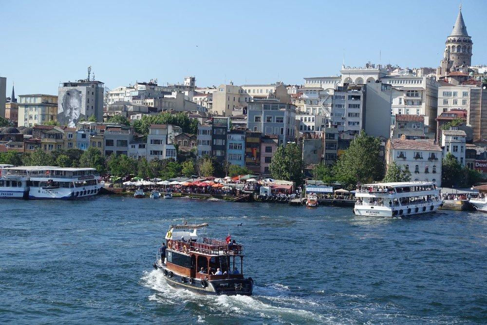 Istanbul | Bosphurus | Beyoglu | street art | JR artist | boats on the Bosphurus | ©sandrine cohen