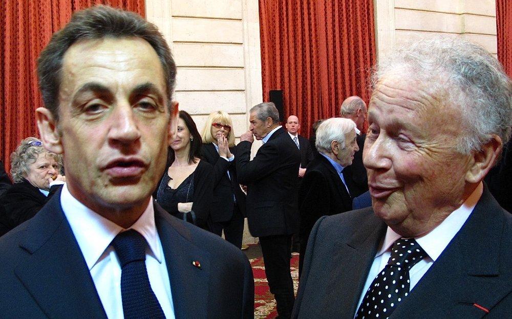 Nicolas Sarkozy | Président de la République | Josée Dayan |Mireille Darc |Philippe Bouvard | Palais de l'Elysée | Paris 2010 | Photo sandrine cohen