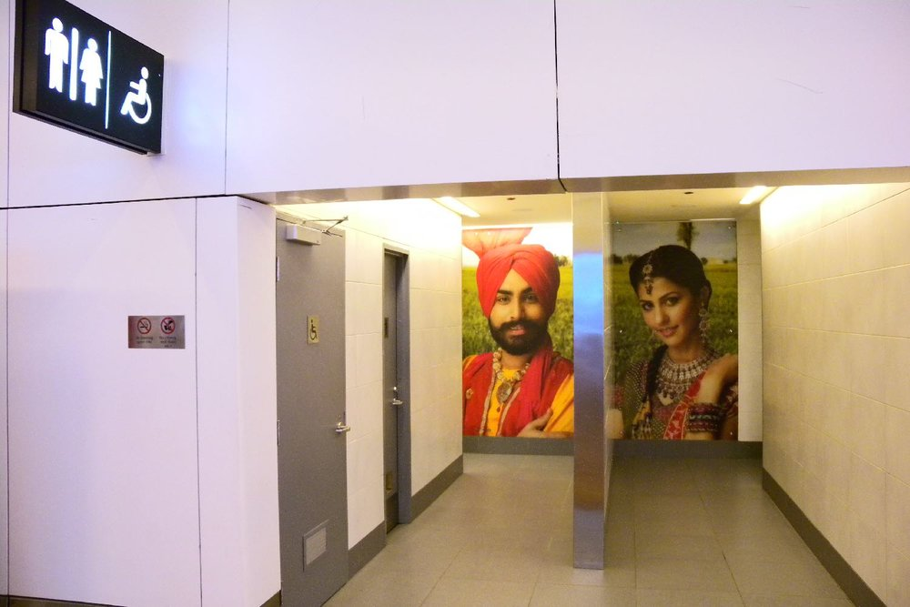 Toilet New Delhi airport 2010 | WC | New Delhi airport | India | photo sandrine cohen