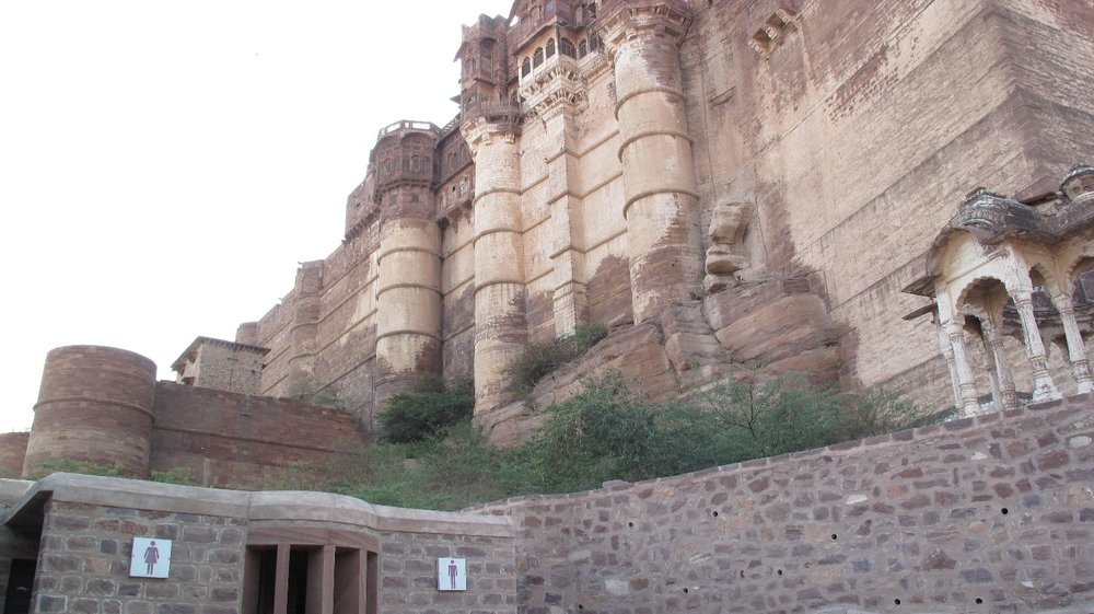Toilets in Jodphur | Fort de Mehrangarh | Jodphur | India toilets | photo sandrine cohen