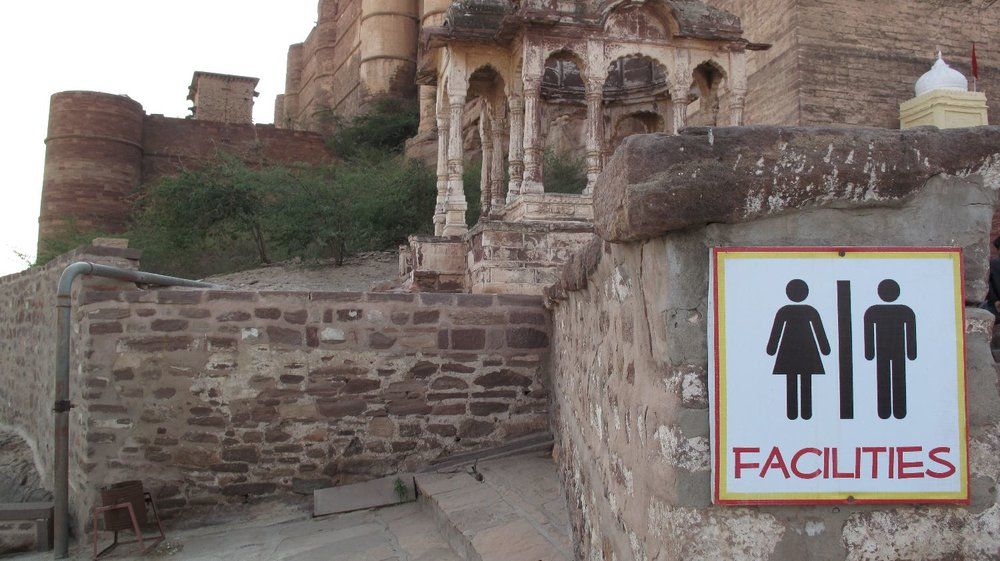 Facilities | Toilets in Jodphur | Fort de Mehrangarh | Jodphur | India toilets | photo sandrine cohen