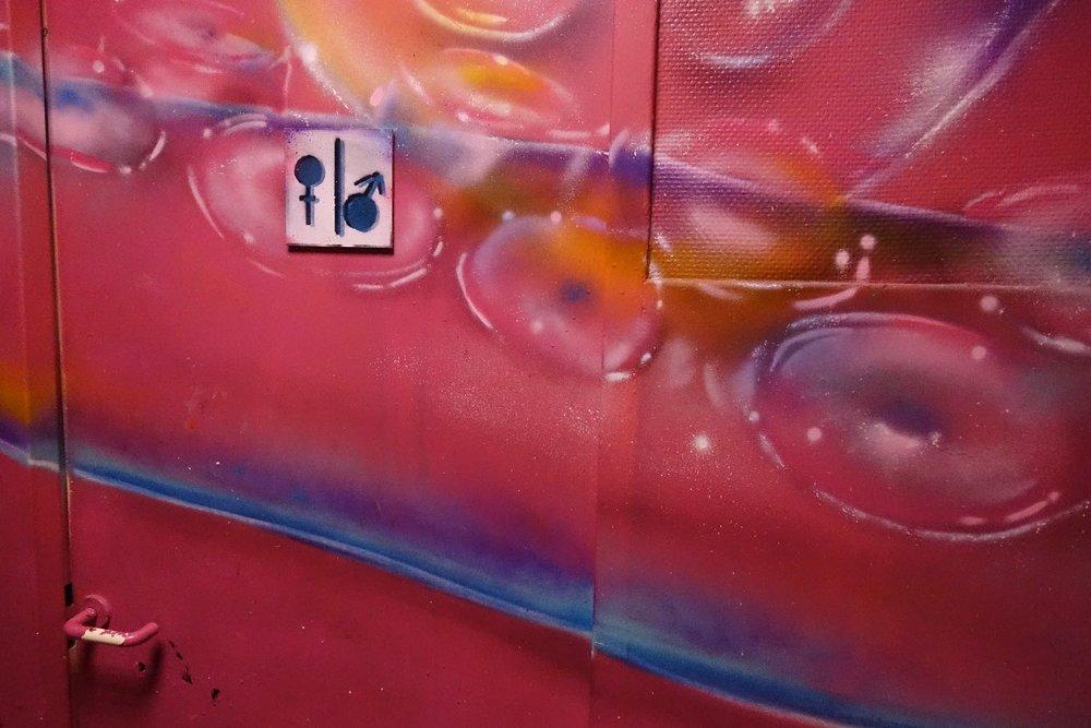 Toilettes femmes et hommes | street art | Cité Universitaire de Paris | photo sandrine cohen
