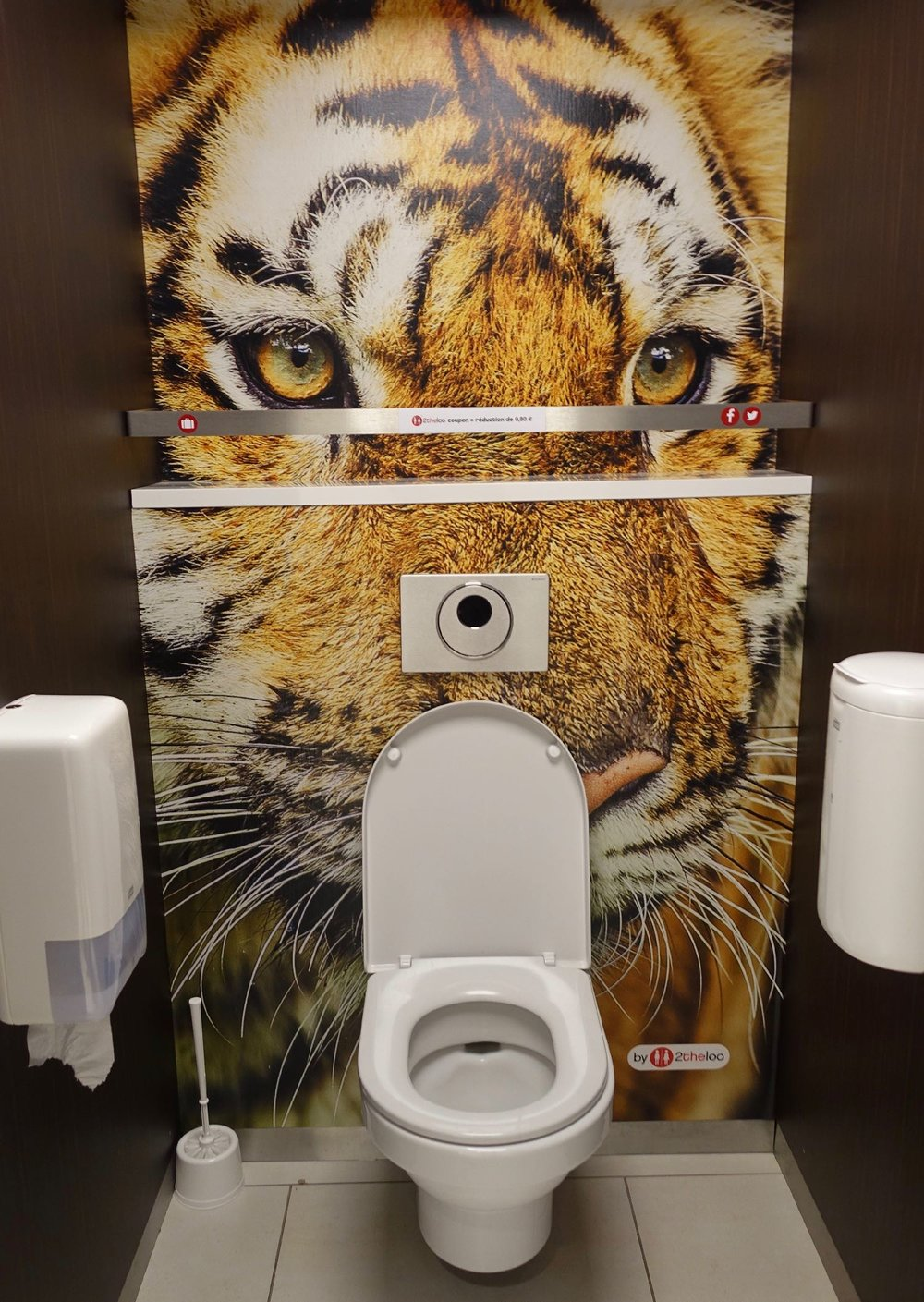 Toilettes décor Tigre à la gare d'Austerlitz | Gare d'Austerlitz | Paris | photo sandrine cohen