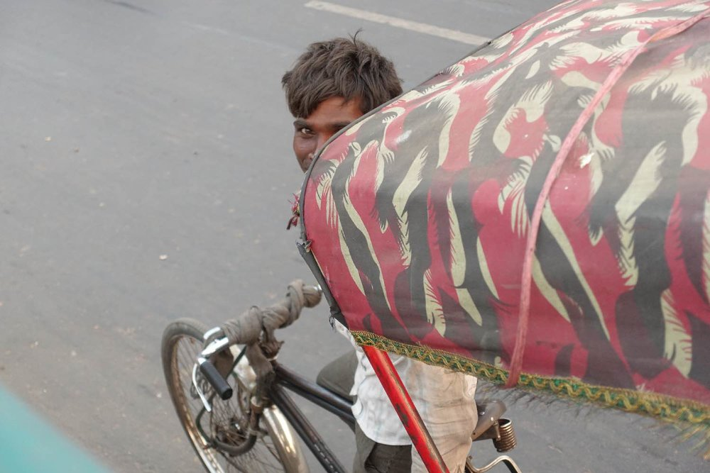 Delhi | rickshaw driver | Indian man | Photo sandrine cohen