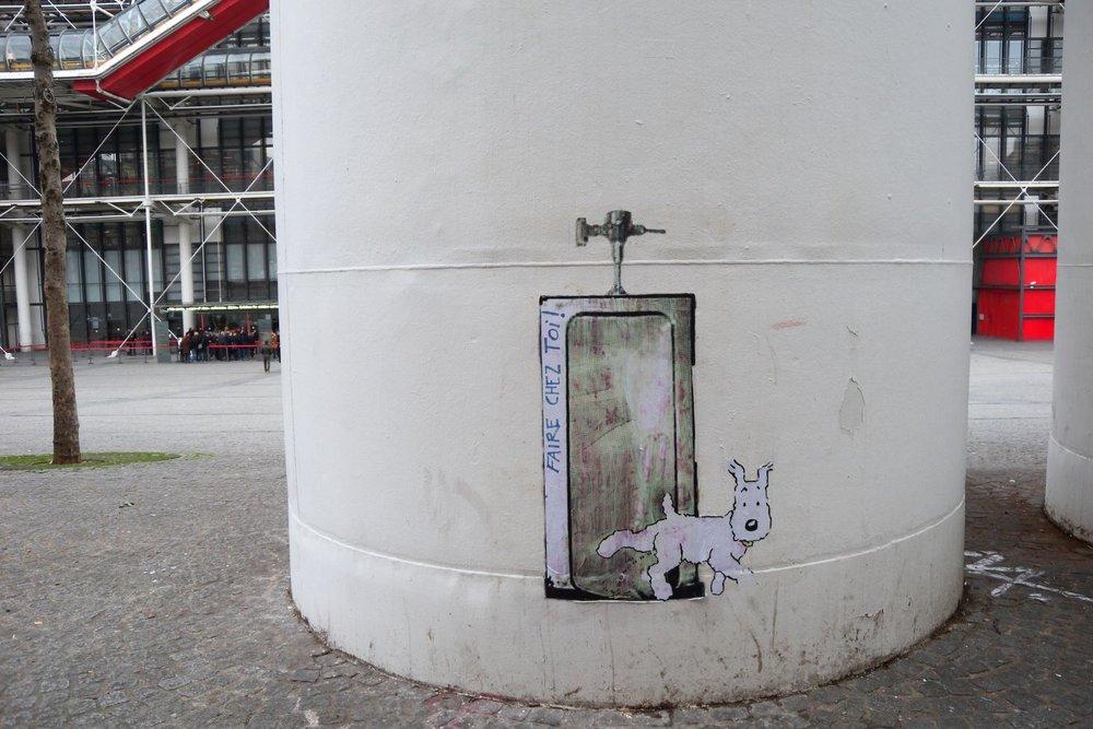 Milou sans Tintin | Centre Pompidou | Paris |