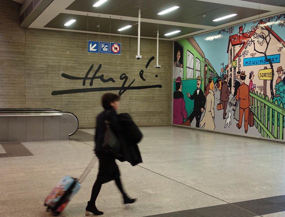 Tintin | Hergé | Bruxelles | gare Bruxelles Midi |