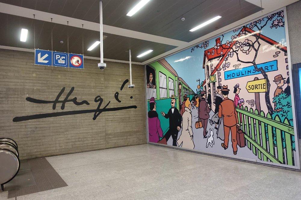 Tintin | Hergé | gare Bruxelles Midi | Bruxelles |