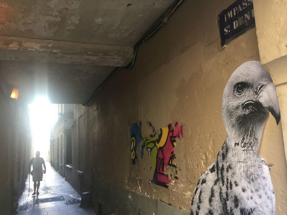 Paris street art | Passage Saint-Denis | photo sandrine cohen