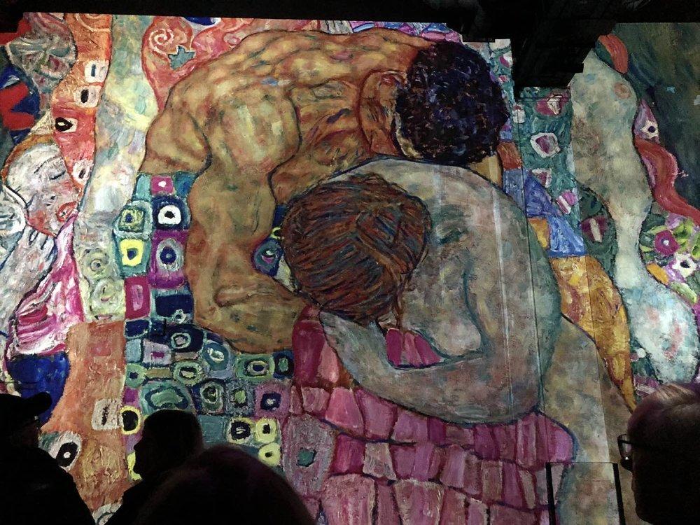 Egon Schiele 2 | L'Atelier des Lumières | Paris | photo sandrine cohen