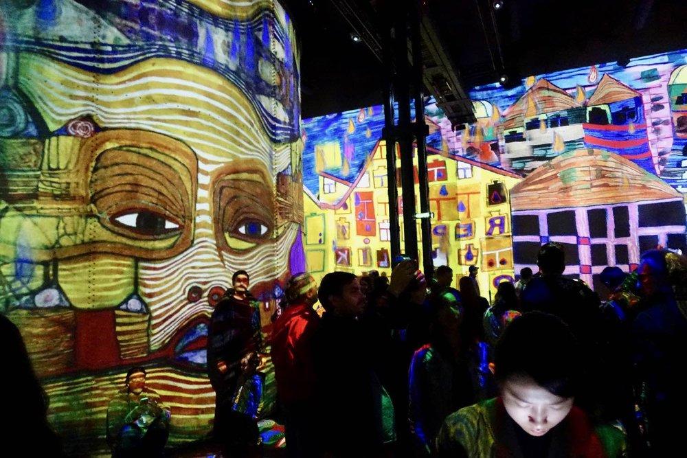 Hundertwasser 3 | L'Atelier des Lumières | Paris | photo sandrine cohen