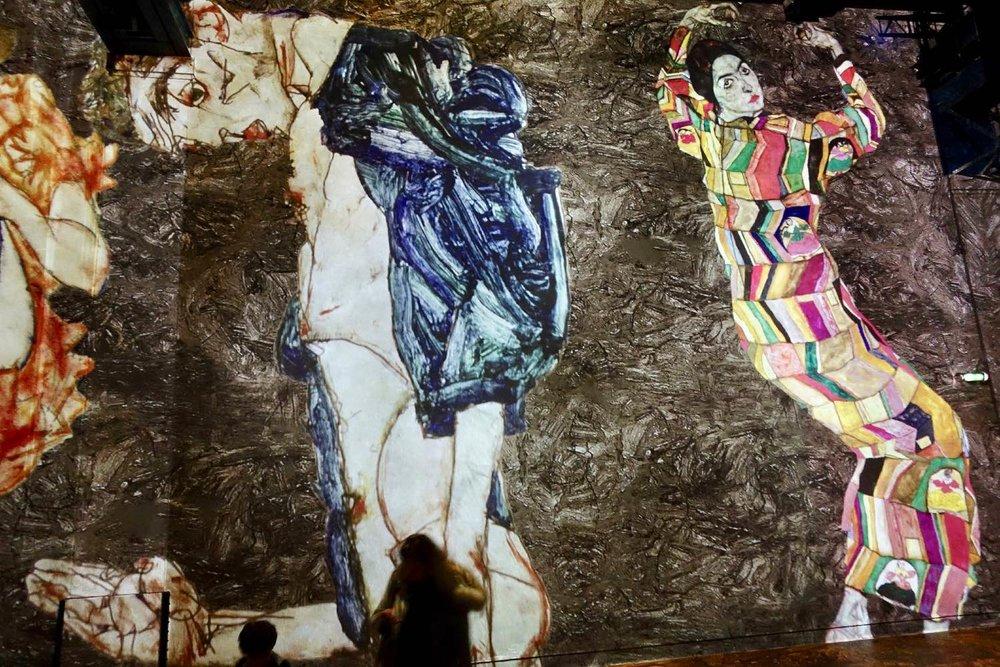 Egon Schiele 1 | L'Atelier des Lumières | Paris | photo sandrine cohen