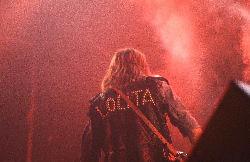 Renaud 1984 | Blouson | Lolita fille de Renaud | Concert | Lausanne | photo sandrine cohen