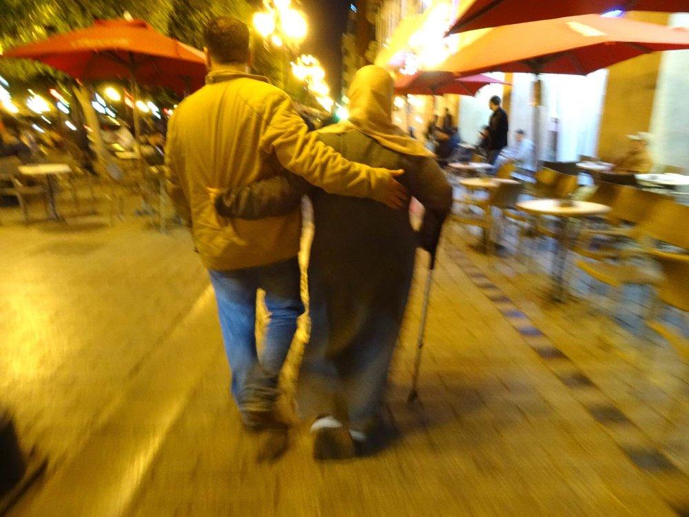 Tunis | Tunisia | Avenue Habid Bourguiba | Couple tunisiens | ©sandrine cohen