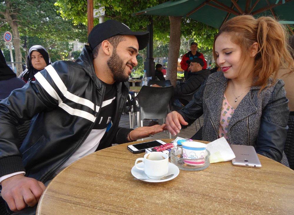 Tunis | Tunisia | Avenue Habid Bourguiba | Amoureux | ©sandrine cohen