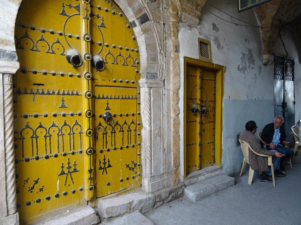 Tunis | Tunisia | Medina de Tunis | Portes jaunes | ©sandrine cohen