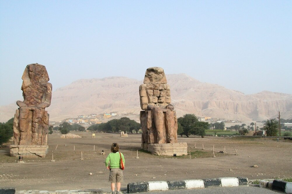 Luxor |Egypt |Queens Valley |Colossi of Memnon |©sandrine cohen