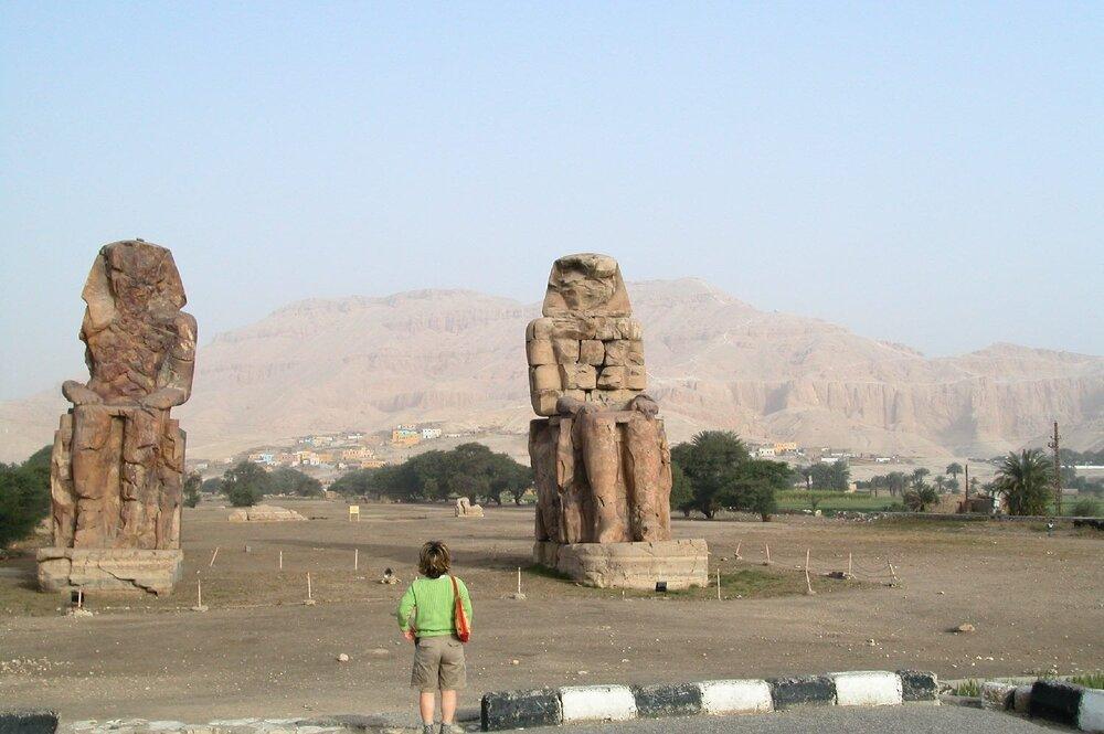 Luxor  Egypt  Queens Valley  Colossi of Memnon  ©sandrine cohen