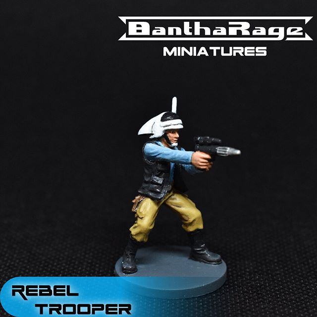 I printed this fella a while ago. I still need to finish his pals.  #starwars #starwarsimperialassault #rebeltrooper #fantasyflightgames #ffg #miniature #miniatures