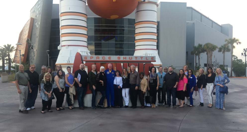 Once the committee meeting and panels were concluded, attendees had a chance to explore one of Cocoa's treasured tourist destinations, Kennedy Space Center. We spoke with their public affairs representative about what it takes to film there, and met astronaut Jon McBride.