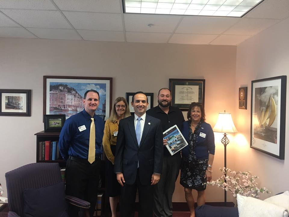Left to right:John Lux (Film Florida), Lisa Mills (UCF), Rep Ardian Zika, Tyler Martinolich (Film Tampa Bay) and Gail Morgan (Emerald Coast Film Commission)