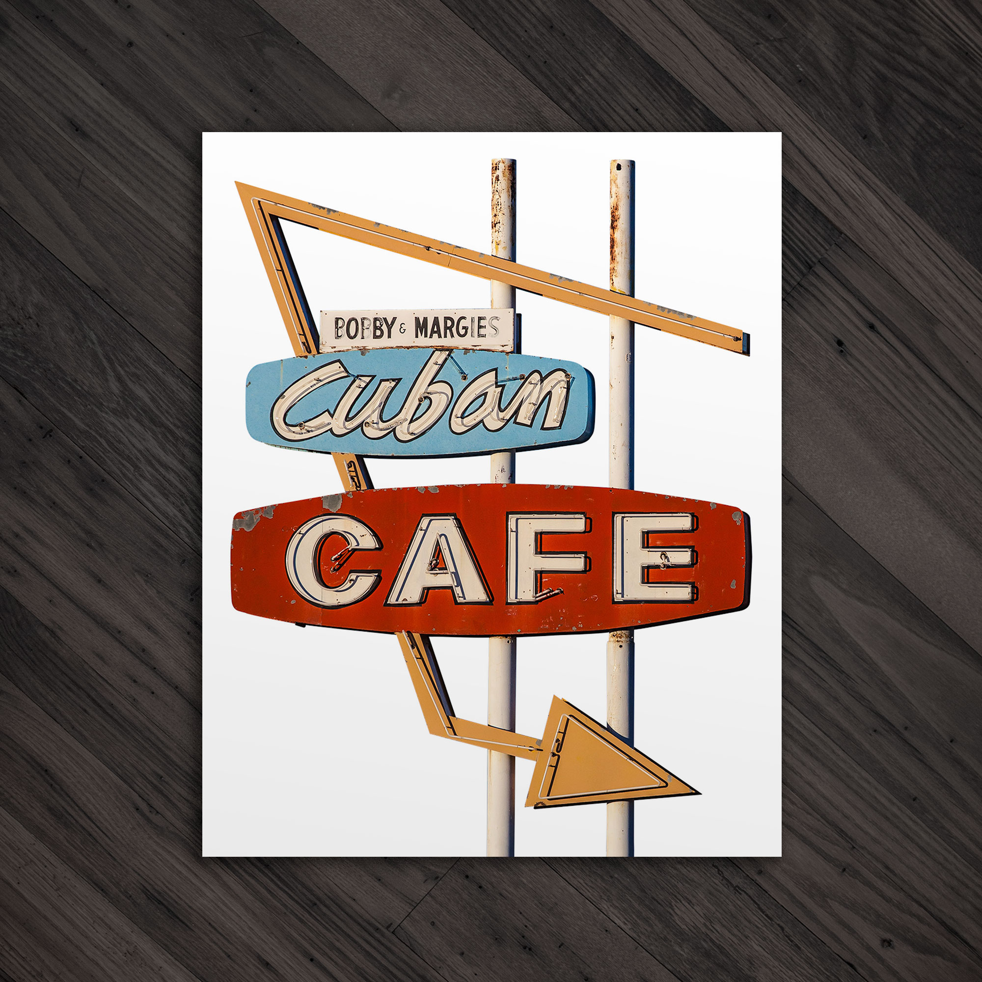 Cuban Cafe Sign Print The Vintage Neon Project Seeking Signs Of The Past