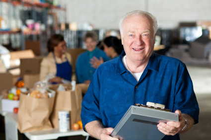 Male Volunteer at Food Center