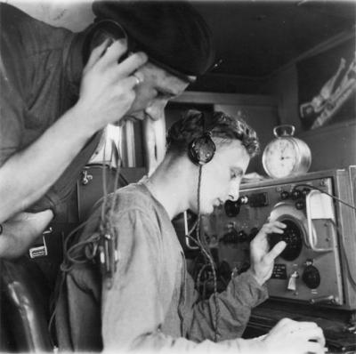 Two signalers at work