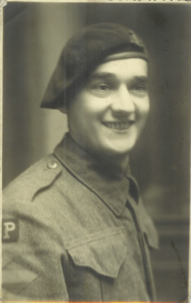 Len Newman who served in Kite Patrol (NB Canadian insignia)