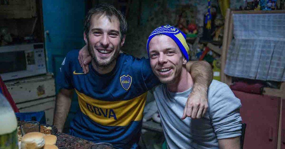 Matteo Gariglio und Andi Widmer beim Dreh von  En La Boca