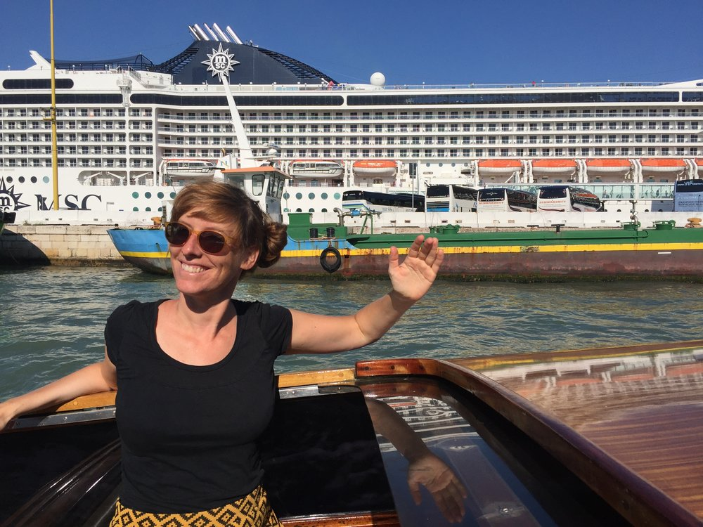 Corina Schwingruber in Venedig an der  Bienneale