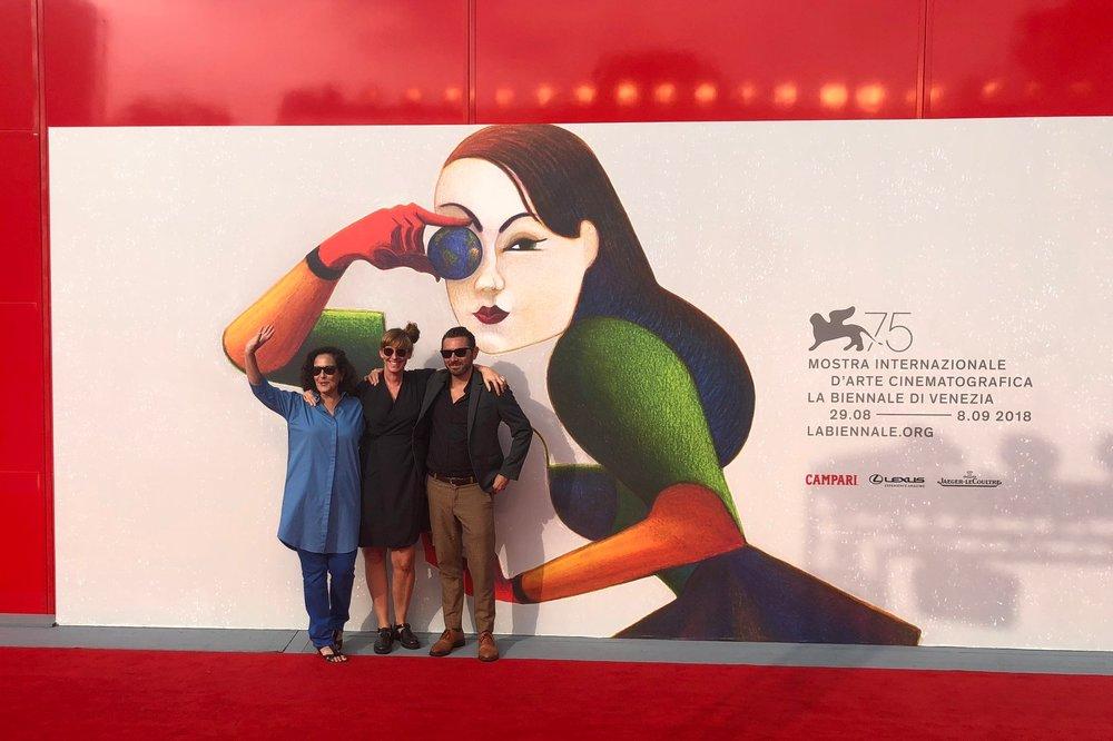 "Crew vom Kurzfilm ""All Inclusive"" in Venedig an der  Bienneale"