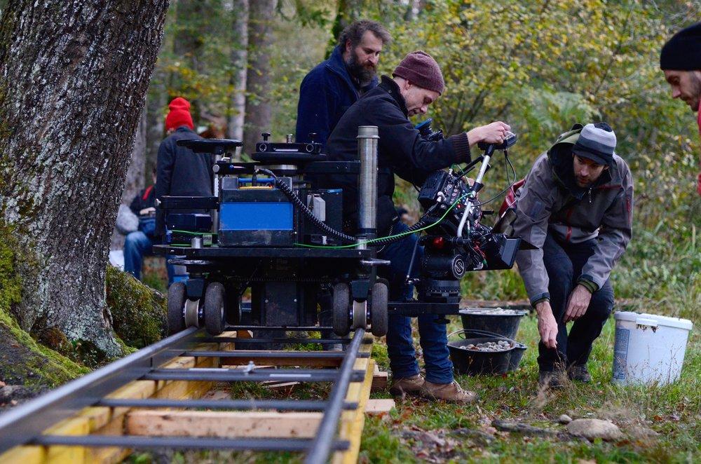 Simon Weber bei den Dreharbeiten von  Sounds of Nature