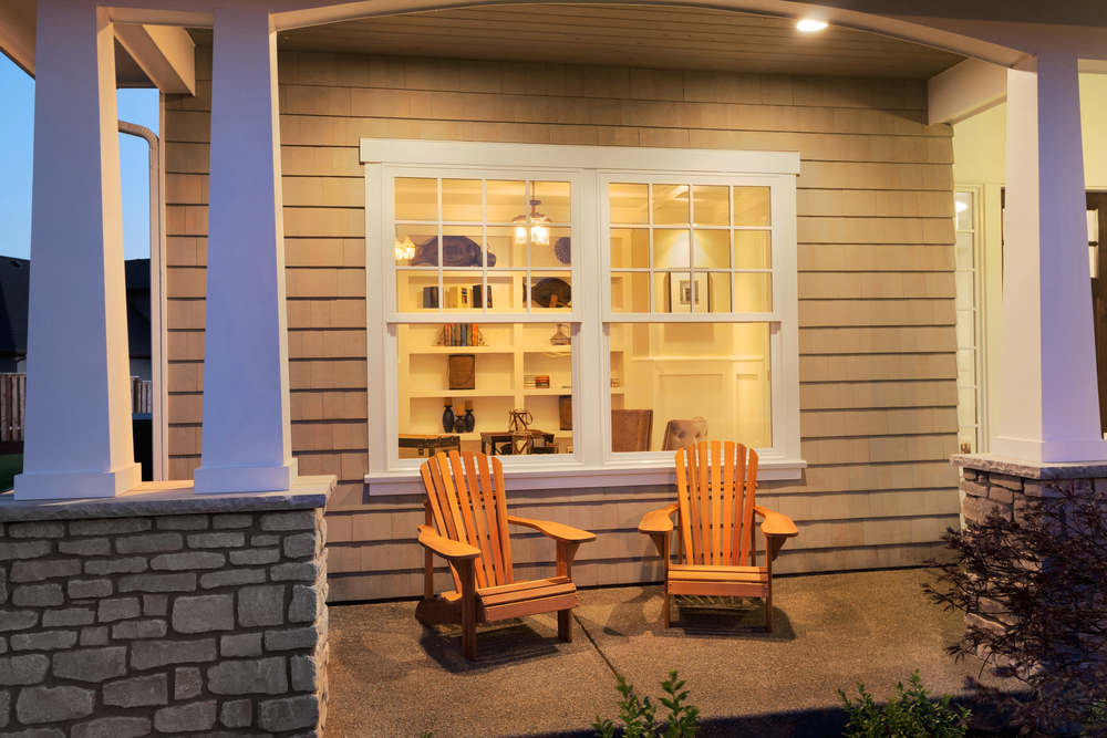 Two chairs in veranda