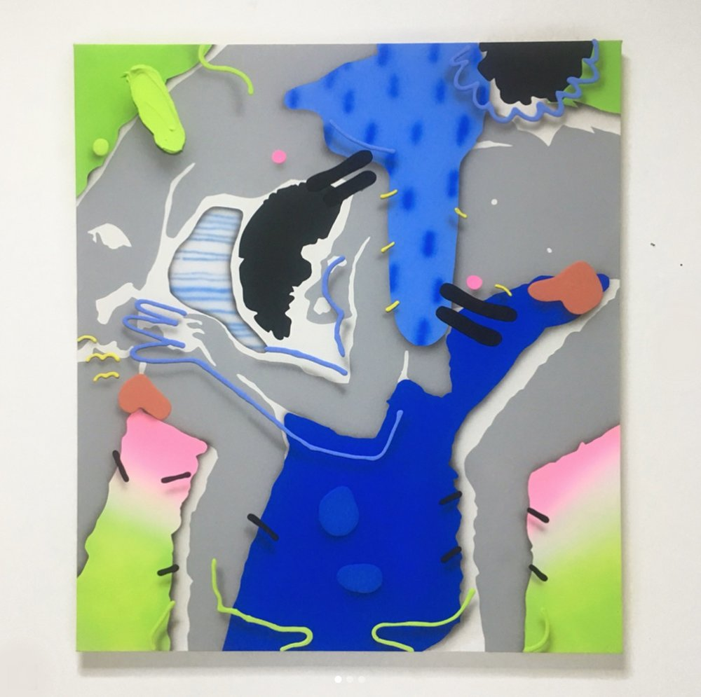 One of the paintings I made during my residency.