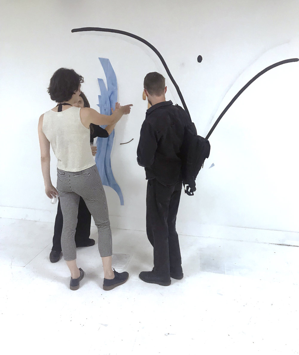 Sharing my some of my ideas and process during the 'End of Residency Exhibition'