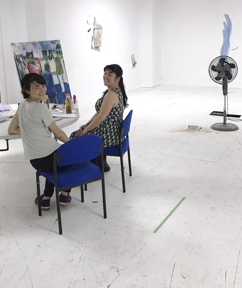 My wonderful studio visit with Rosalind Davis