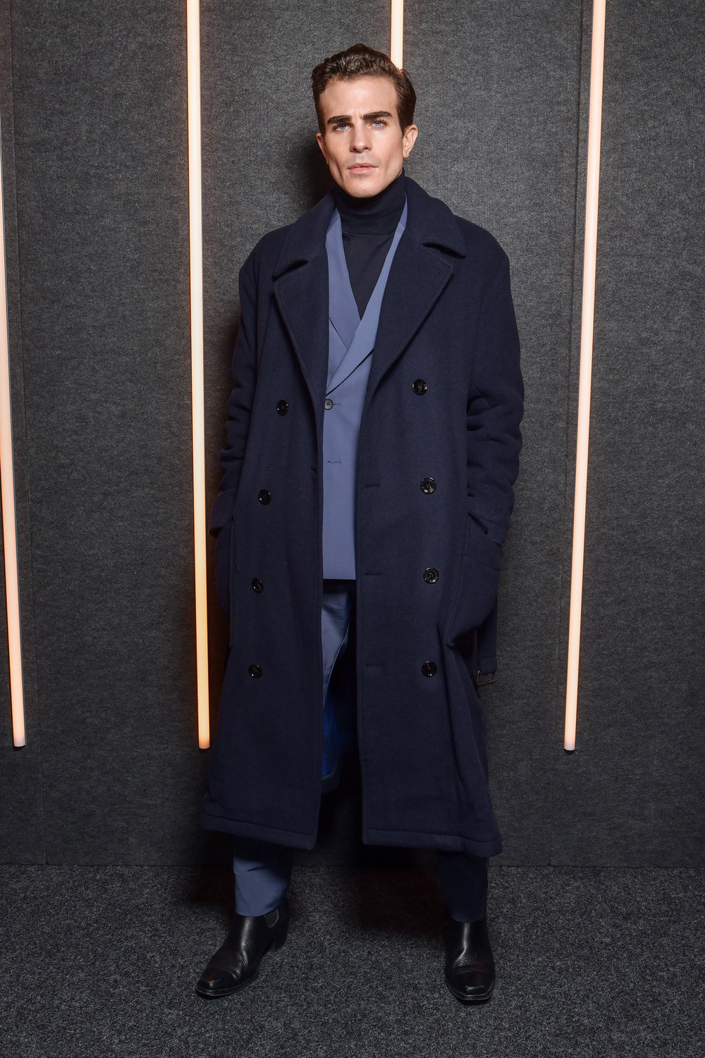 Carlo Sestini backstage at the BOSS Fall/Winter 2019 show at Basketball City during New York Fashion Week on Wednesday, February 13, in New York City. Photography, Courtesy of BOSS.