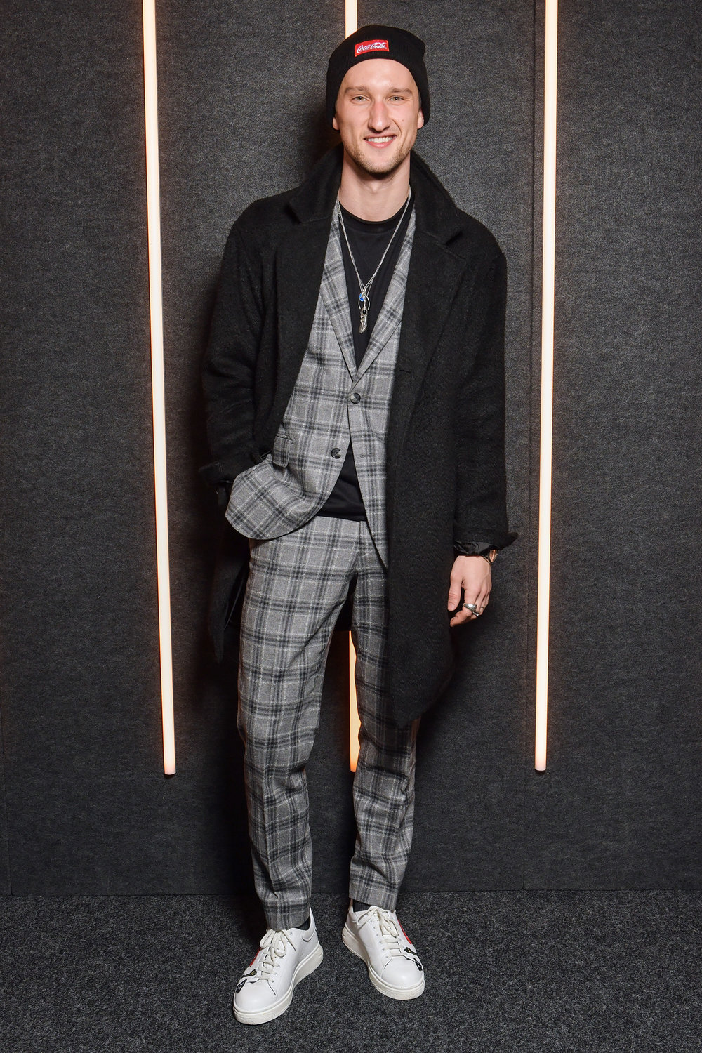 Marcel Floruss backstage at the BOSS Fall/Winter 2019 show at Basketball City during New York Fashion Week on Wednesday, February 13, in New York City. Photography, Courtesy of BOSS.